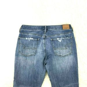 AEO Tomgirl Jeans Sz 8 s 27 Inseam Button Fly 9-6